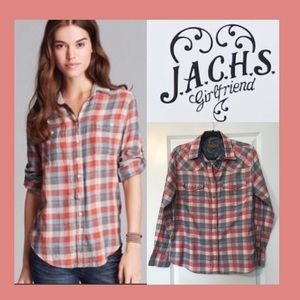 JACHS Girlfriend Plaid Flannel